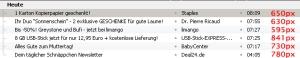 Durchschnittliche Newsletterbreite im deutschsprachigen Raum per Mini-Stichprobe ca. 700 Pixel
