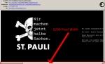Der Newsletter des 1. FC St. Pauli Shops kommt mit 3200 Pixel Breite daher...