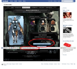X-Men Origins: Das Spiel im sozialen Netzwerk Facebook