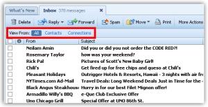 Yahoo!-Mail: Nur E-Mails von Kontakten anzeigen (Quelle: ymailblog.com)
