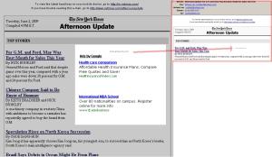 Drei Google AdSense Anzeigen im Newsletter
