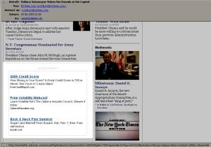 Drei kontextsensitive Newsletter-Anzeigen als Grafik von AdSonar.com