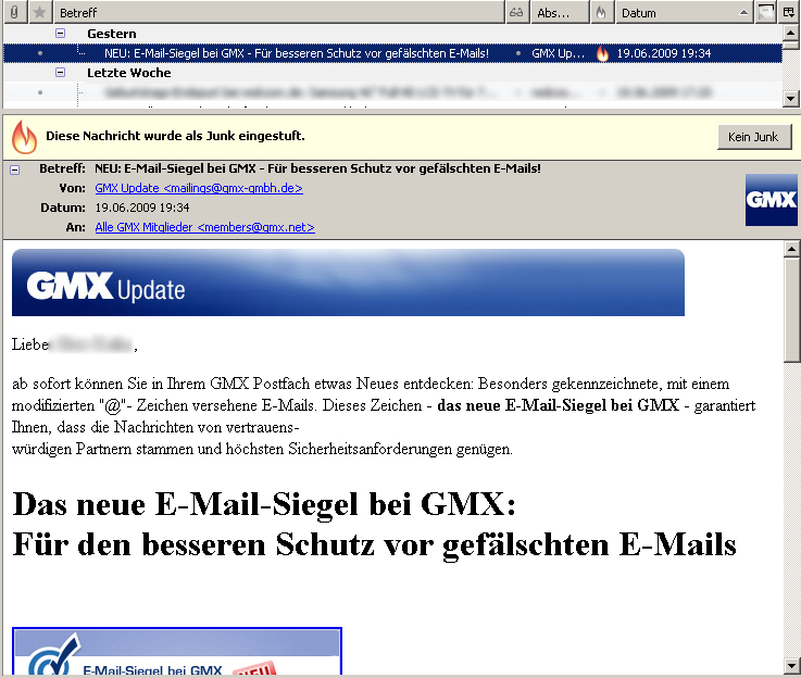 einzelne emails von outlook nach thunderbird