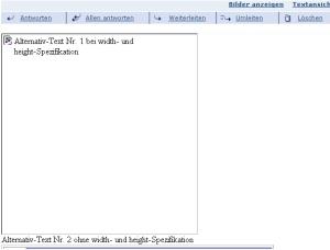 """alt-Text, Berücksichtigung der Größe von Grafik bzw. Text und """"fehlendes Bild""""-Markierung bei width/height"""