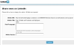 LinkedIn: Fehlende Parameter (hier: Beschreibung und Quelle) werden erfragt