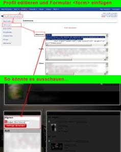Auffälligere 1-Klick-Lösung durch direkte Formular-Integration