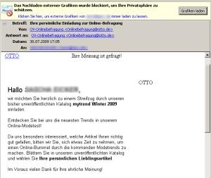 OTTO nutzt E-Mail-Kanal geschickt zur Marktforschung