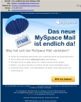 MySpace Mail Beta Einladung per E-Mail