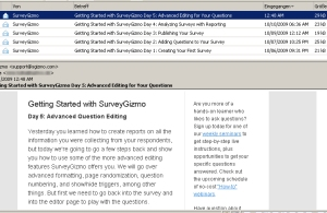 "SurveyGizmo: ""Getting-Started""-E-Mail-Serie"