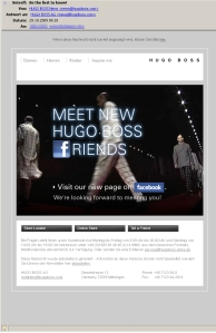 HUGO BOSS: Facebook-Promotion